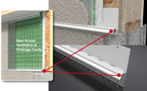 water resistive barrier, weather resistive barrier, amiflow mid-wall